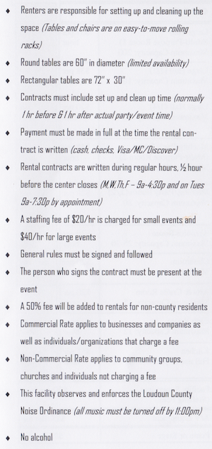 Rental Regulations